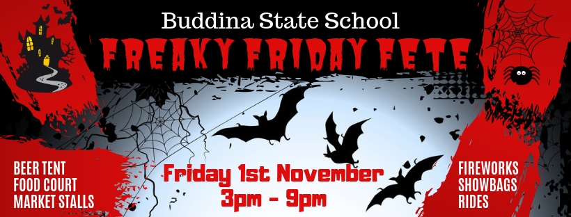 Buddina State School Fete banner 2019